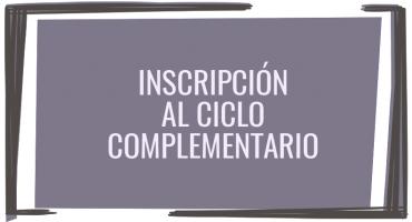 Inscripción a ciclo complementario