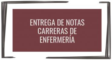 Entrega de notas: carreras de Enfermería