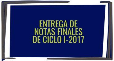 Entrega de notas finales de ciclo I-2018