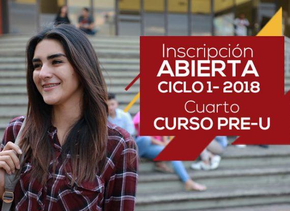 Cuarto curso pre universitario – Ciclo I 2018 – Sabatino Semipresencial