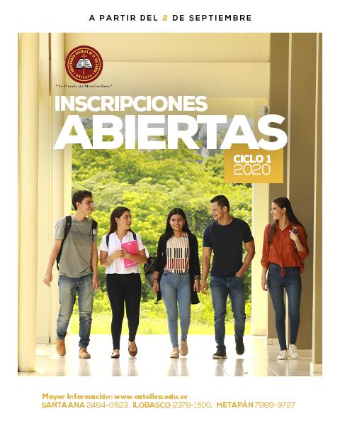 UNICAES - INSCRIPCIONES ABIERTAS CICLO I 2020